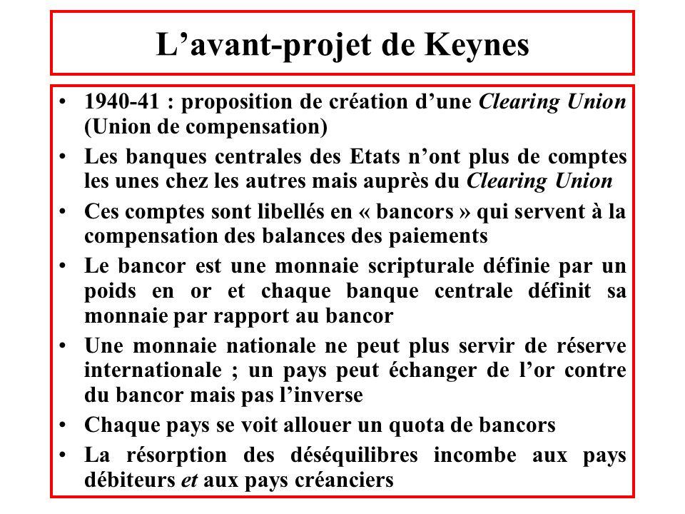 L'avant-projet de Keynes