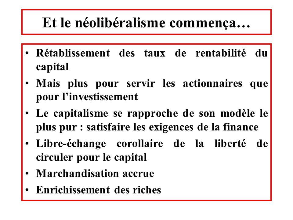 Et le néolibéralisme commença…