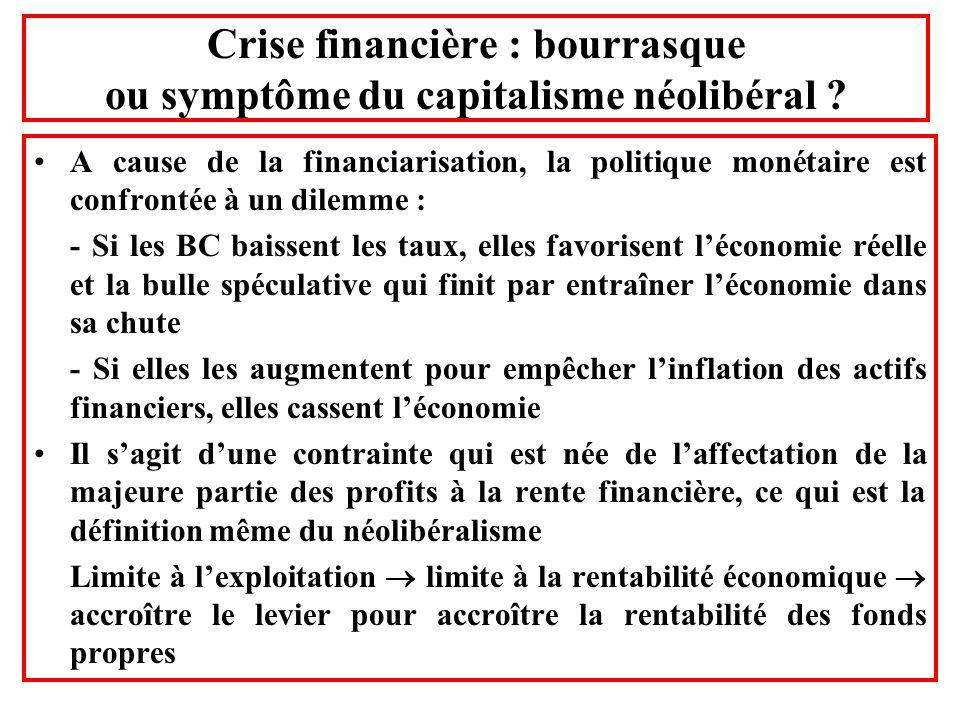 Crise financière : bourrasque ou symptôme du capitalisme néolibéral