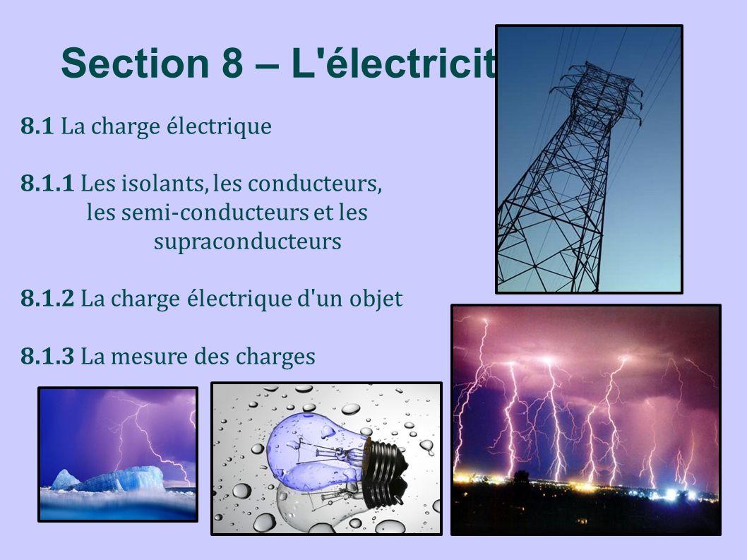 Section 8 – L électricité
