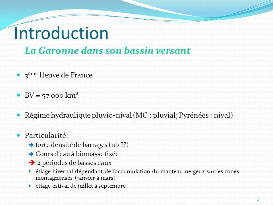Introduction La Garonne dans son bassin versant 3ème fleuve de France