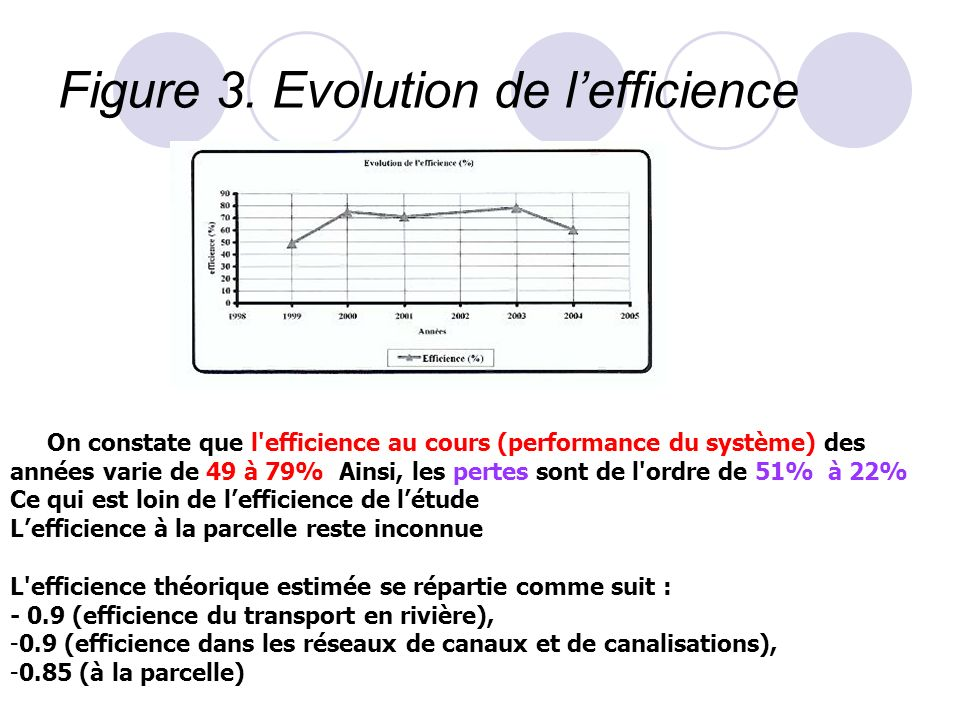 Figure 3. Evolution de l'efficience