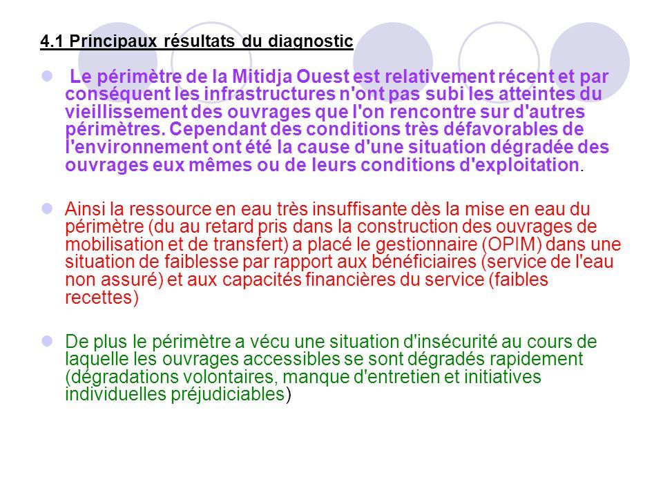 4.1 Principaux résultats du diagnostic