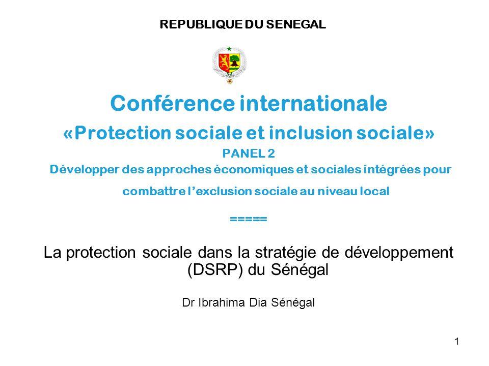 Conférence internationale «Protection sociale et inclusion sociale»