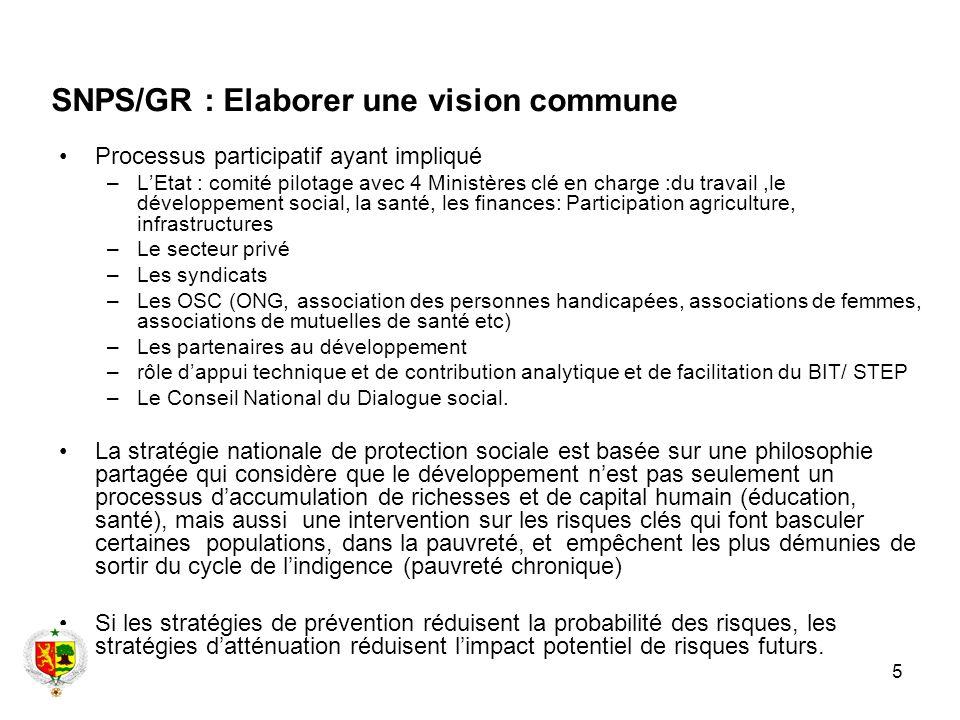 SNPS/GR : Elaborer une vision commune