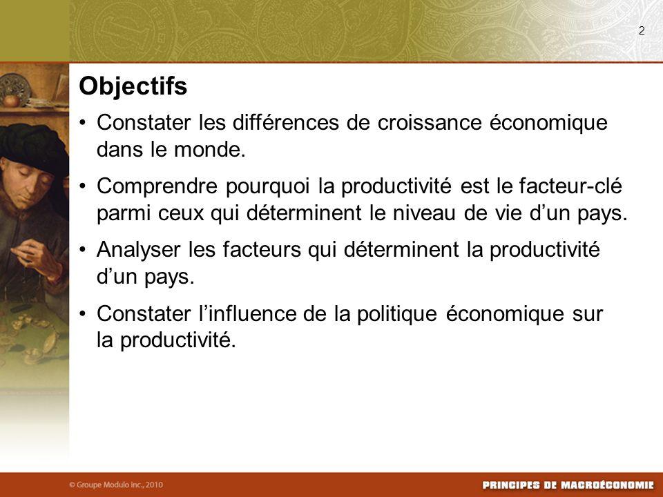 08/03/09 2. Objectifs. Constater les différences de croissance économique dans le monde.