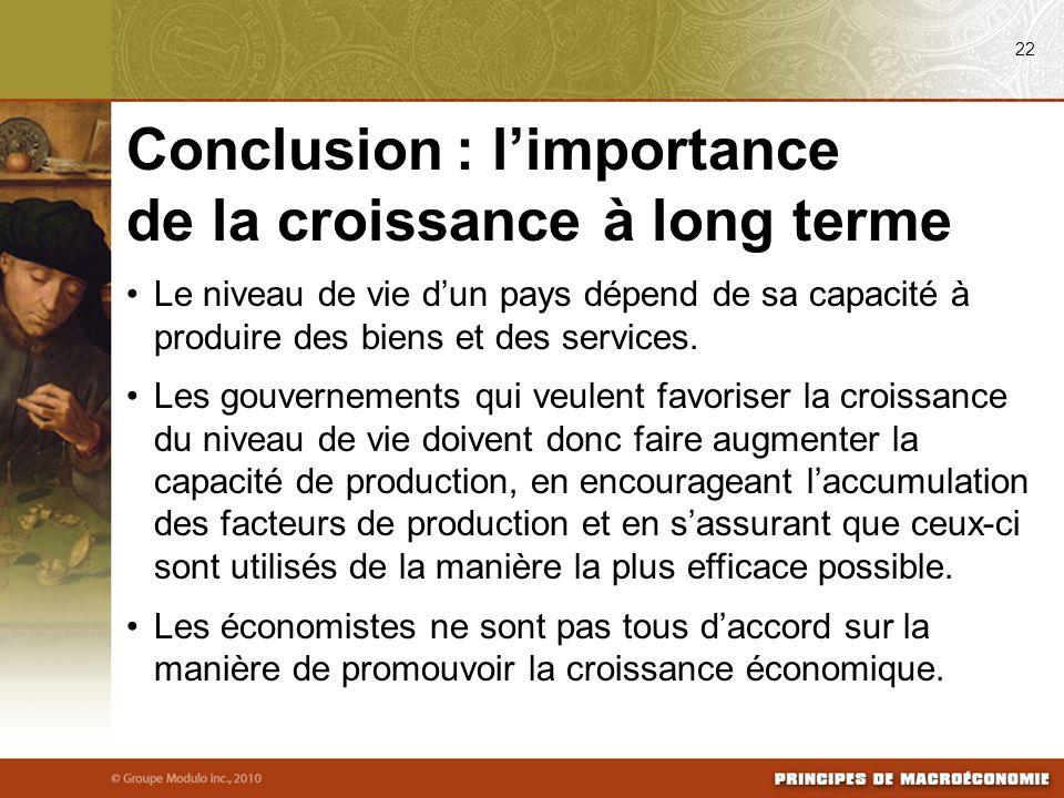 Conclusion : l'importance de la croissance à long terme