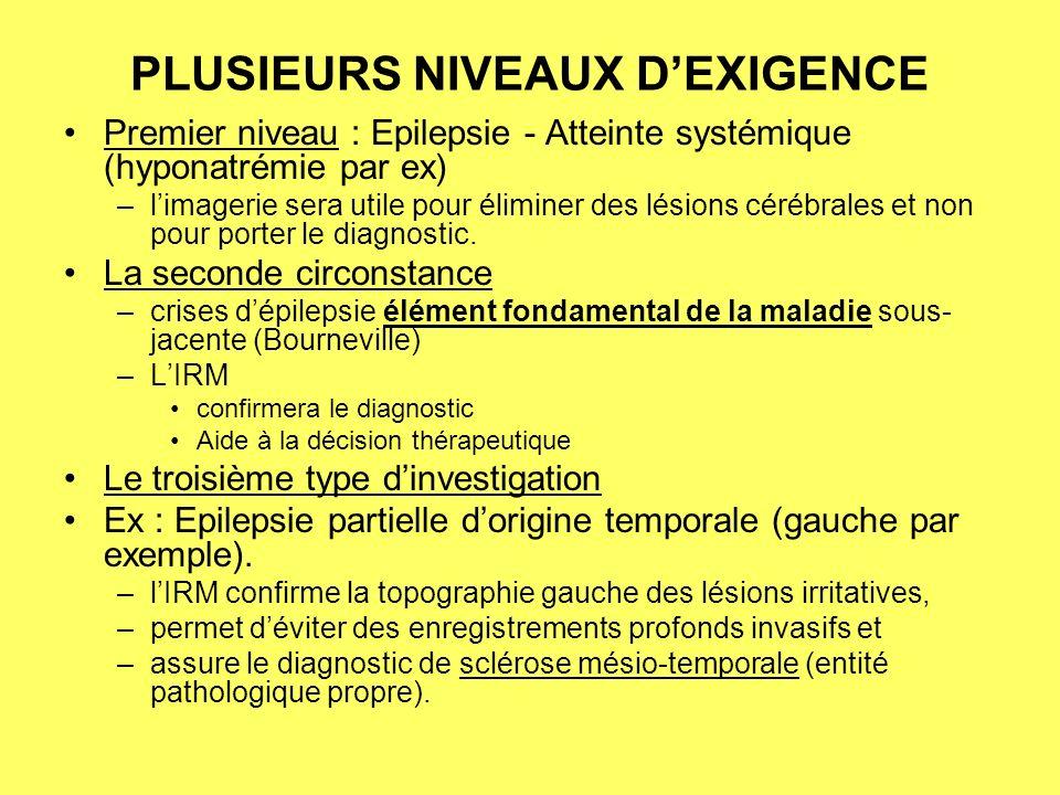 PLUSIEURS NIVEAUX D'EXIGENCE