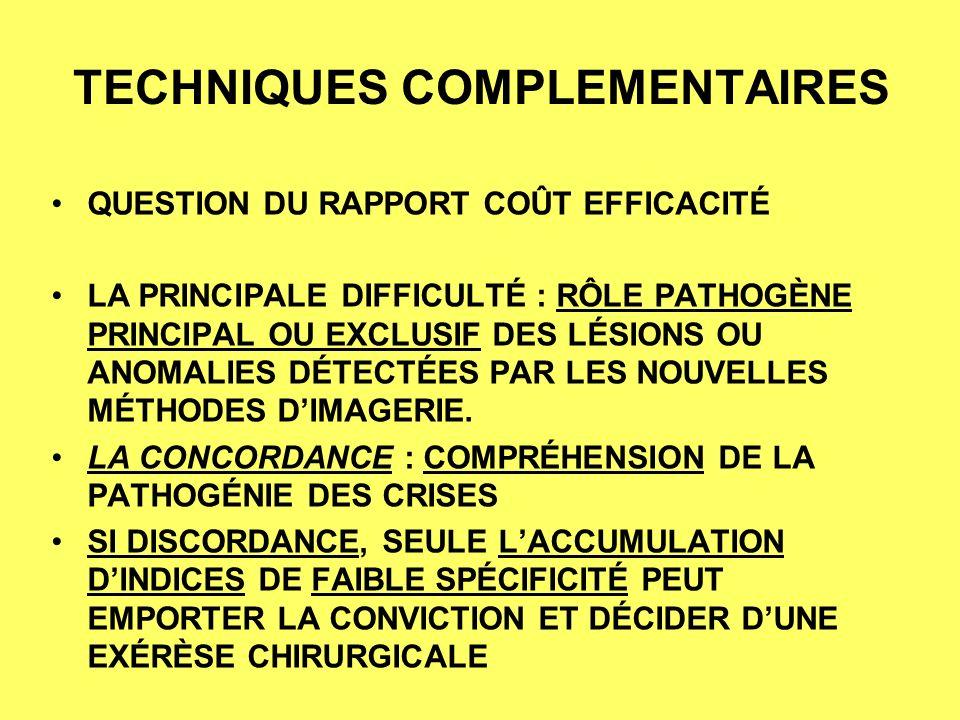 TECHNIQUES COMPLEMENTAIRES