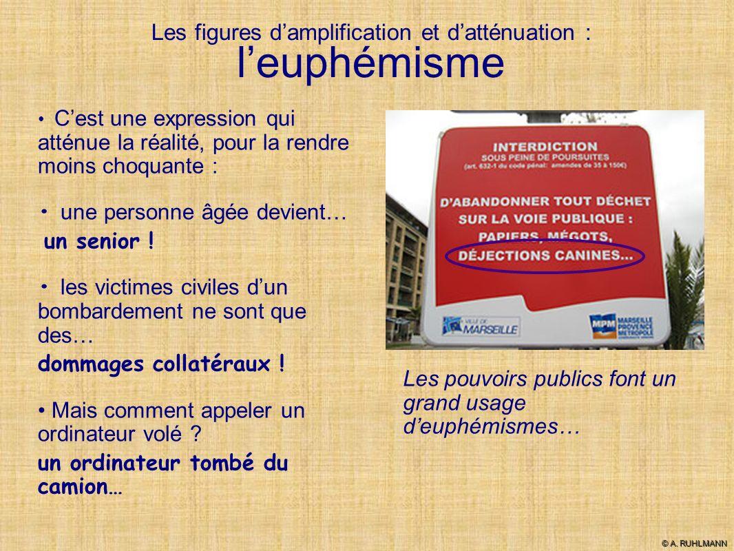 Les figures d'amplification et d'atténuation : l'euphémisme