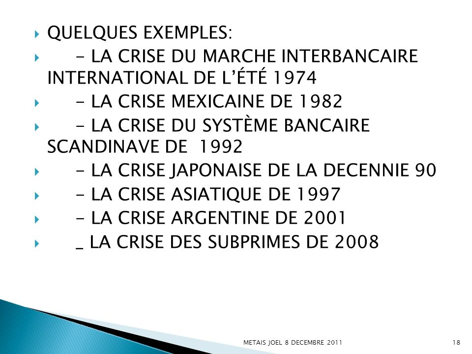 - LA CRISE DU MARCHE INTERBANCAIRE INTERNATIONAL DE L'ÉTÉ 1974