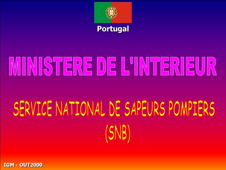 MINISTERE DE L INTERIEUR SERVICE NATIONAL DE SAPEURS POMPIERS