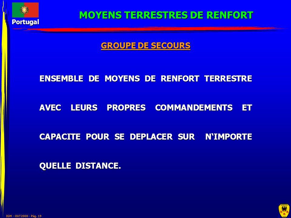 MOYENS TERRESTRES DE RENFORT