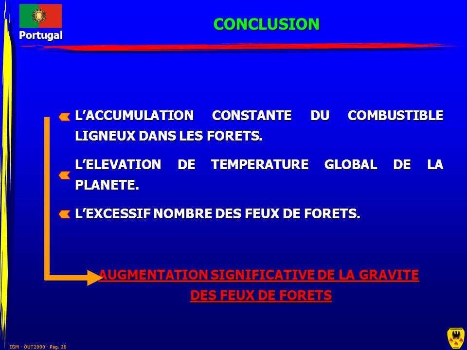 AUGMENTATION SIGNIFICATIVE DE LA GRAVITE
