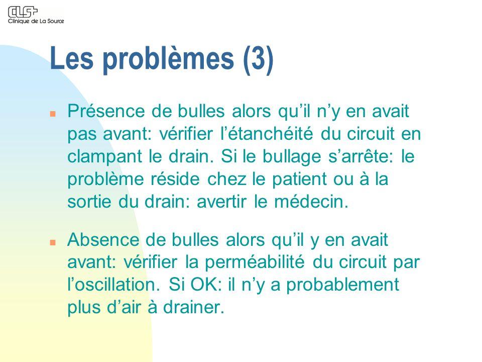Les problèmes (3)