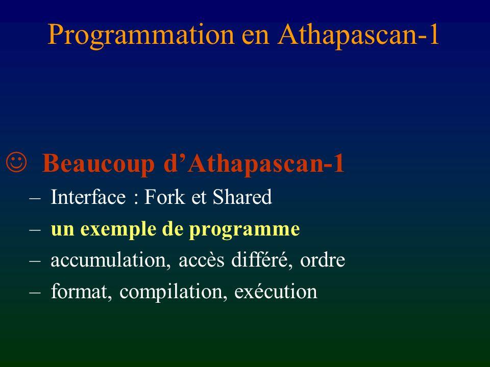 Programmation en Athapascan-1