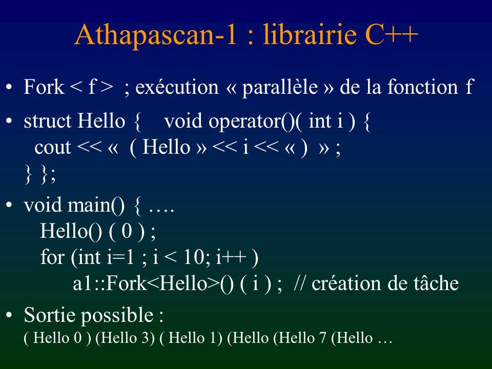 Athapascan-1 : librairie C++