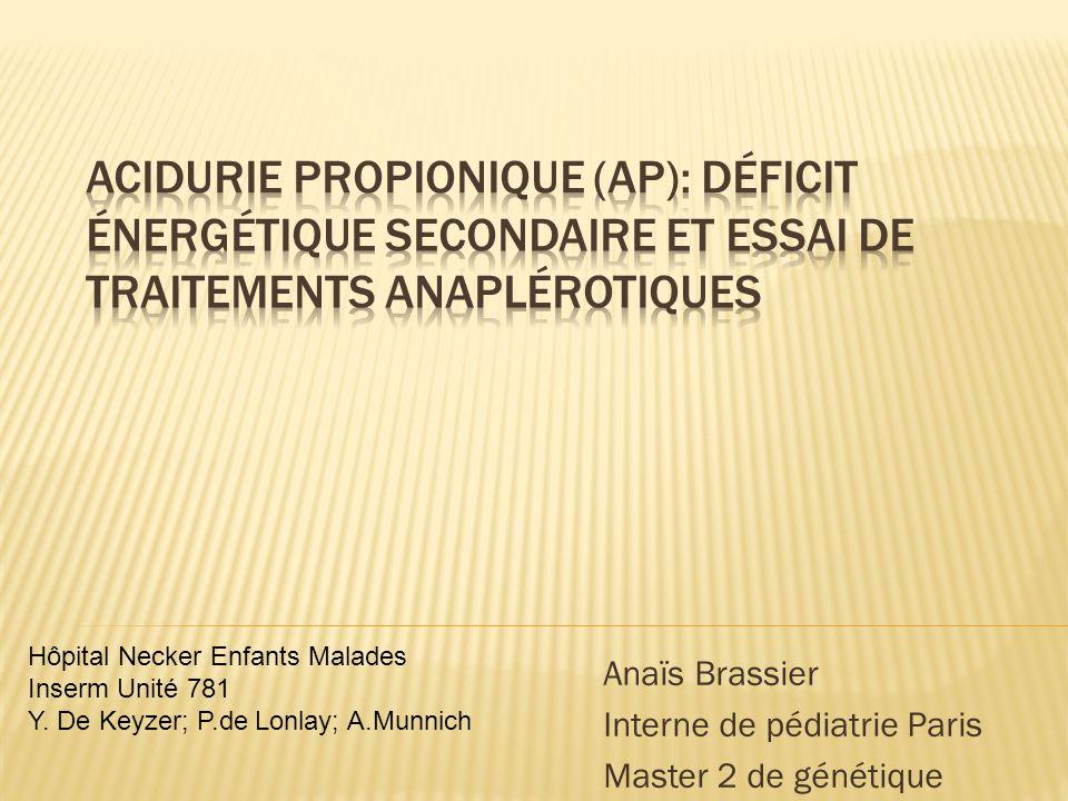 Anaïs Brassier Interne de pédiatrie Paris Master 2 de génétique