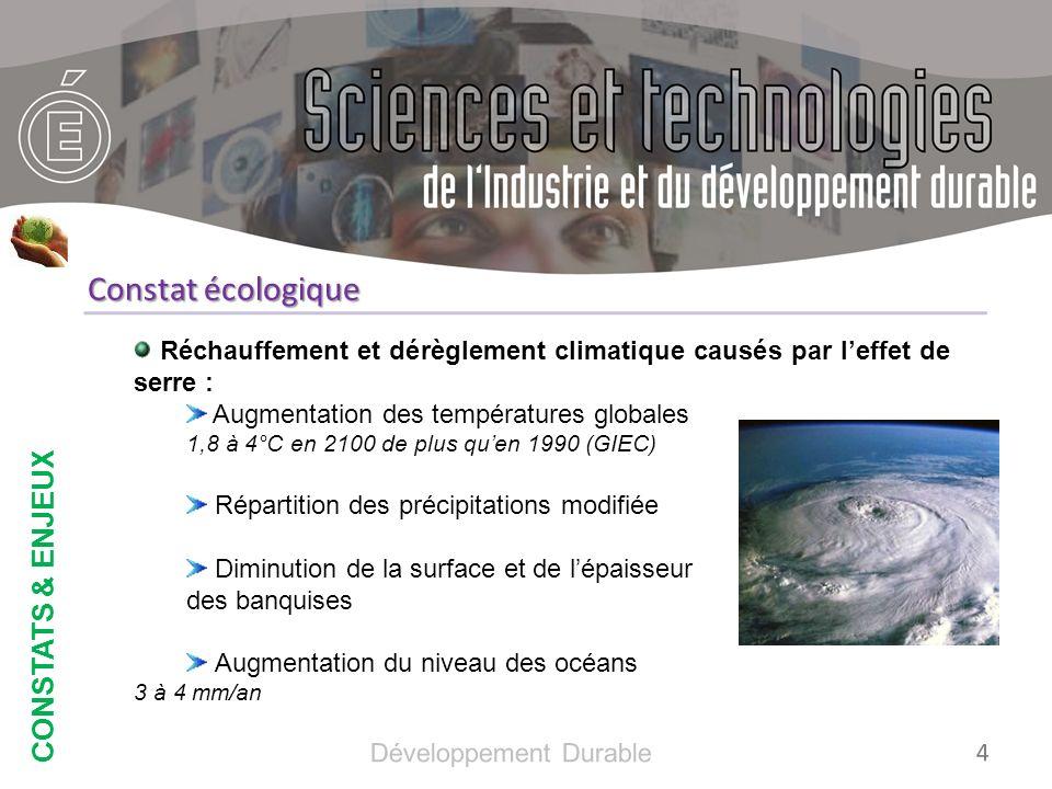Constat écologique CONSTATS & ENJEUX