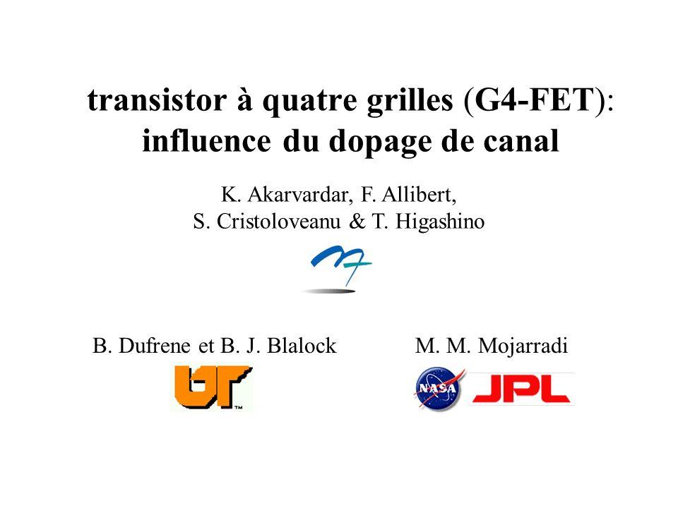 transistor à quatre grilles (G4-FET): influence du dopage de canal