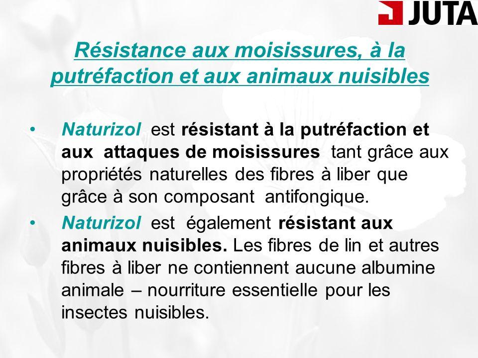 Résistance aux moisissures, à la putréfaction et aux animaux nuisibles