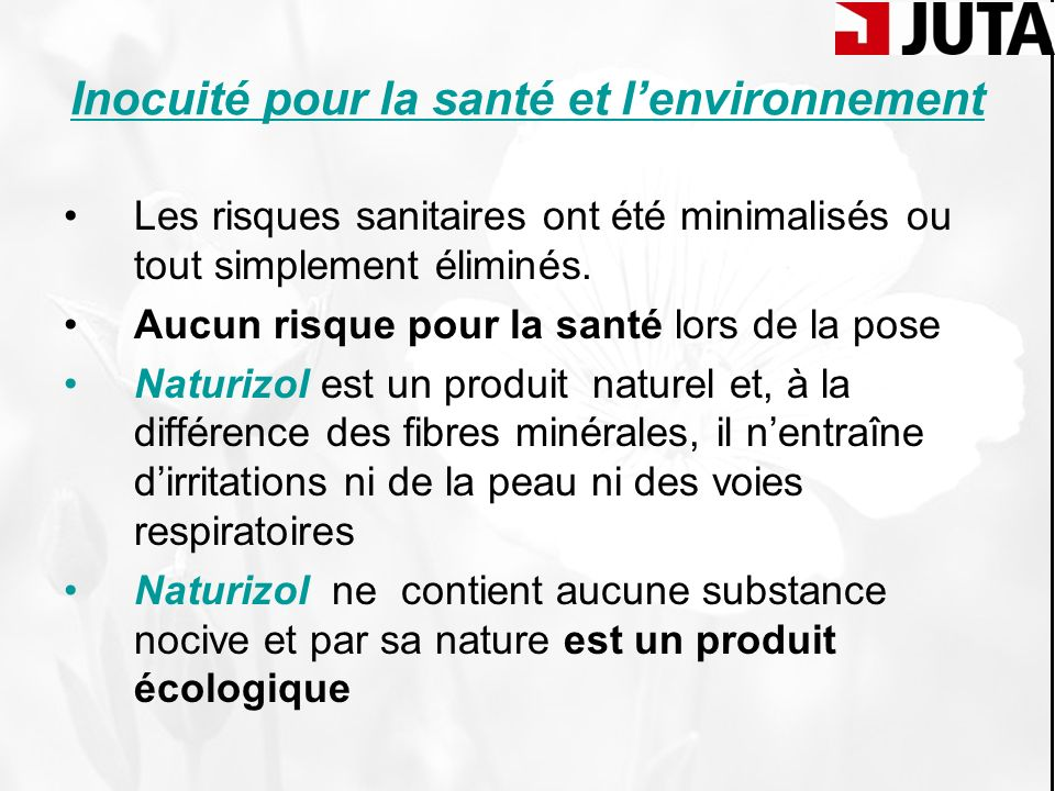 Inocuité pour la santé et l'environnement