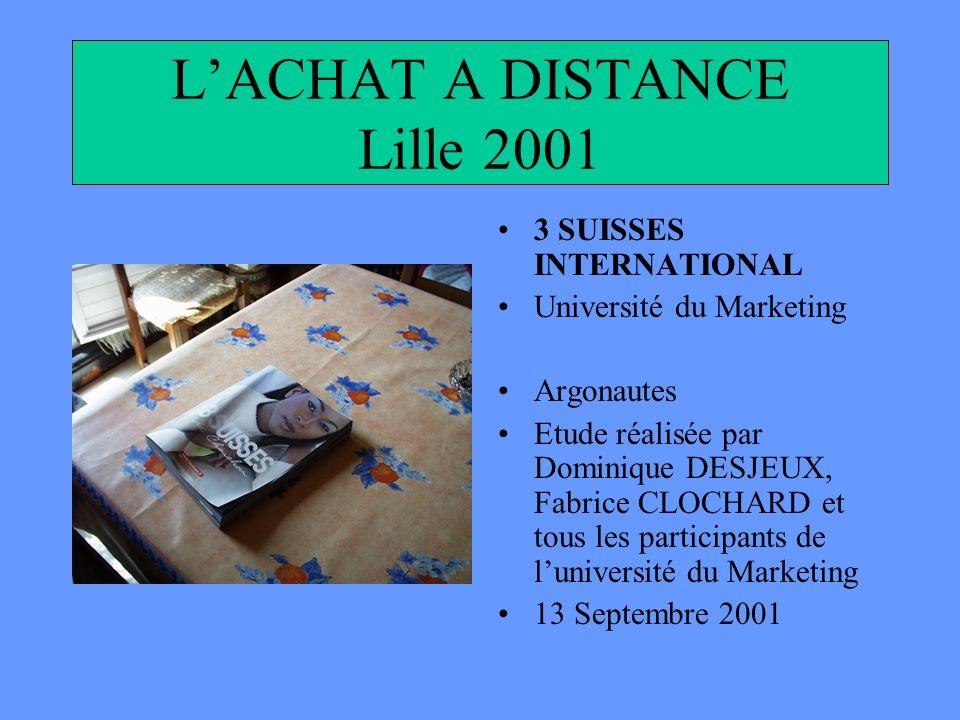 L'ACHAT A DISTANCE Lille 2001