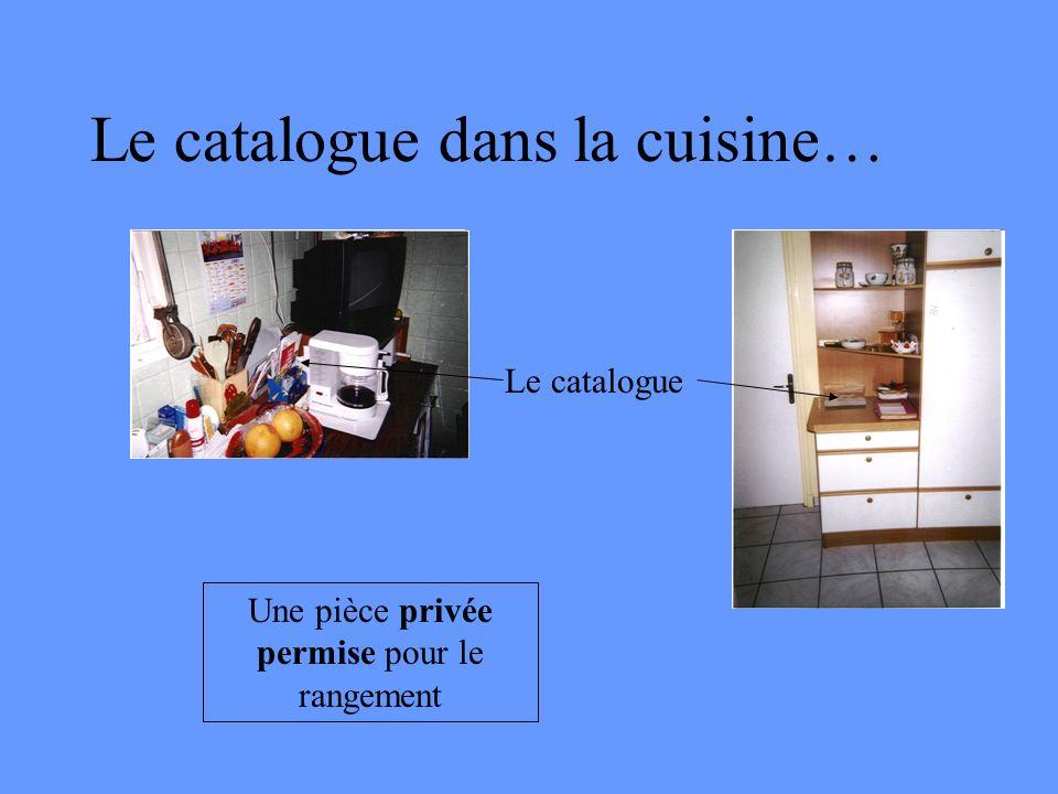 Le catalogue dans la cuisine…