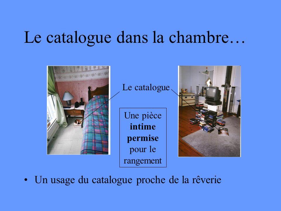 Le catalogue dans la chambre…