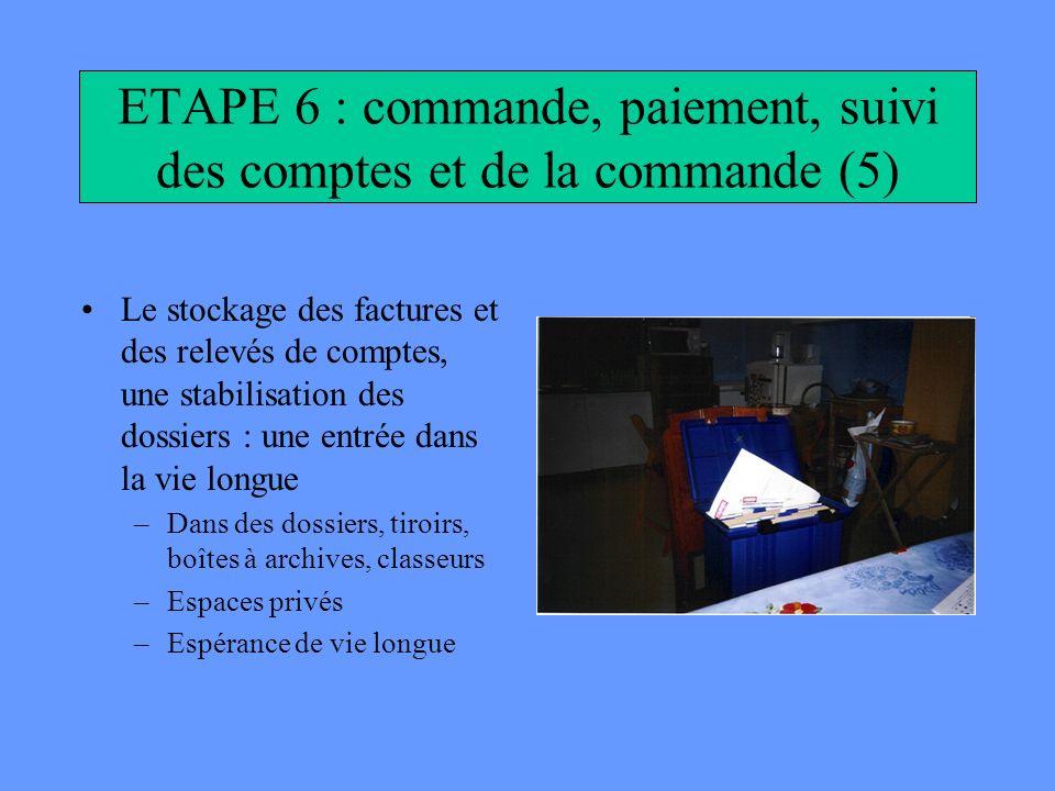 ETAPE 6 : commande, paiement, suivi des comptes et de la commande (5)