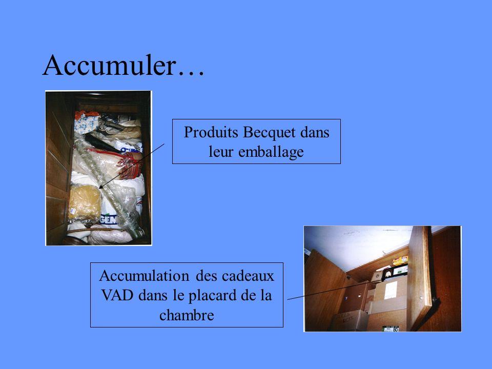 Accumuler… Produits Becquet dans leur emballage