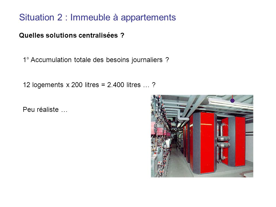 Situation 2 : Immeuble à appartements