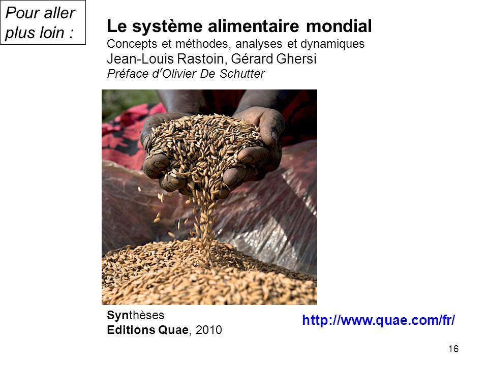 Le système alimentaire mondial