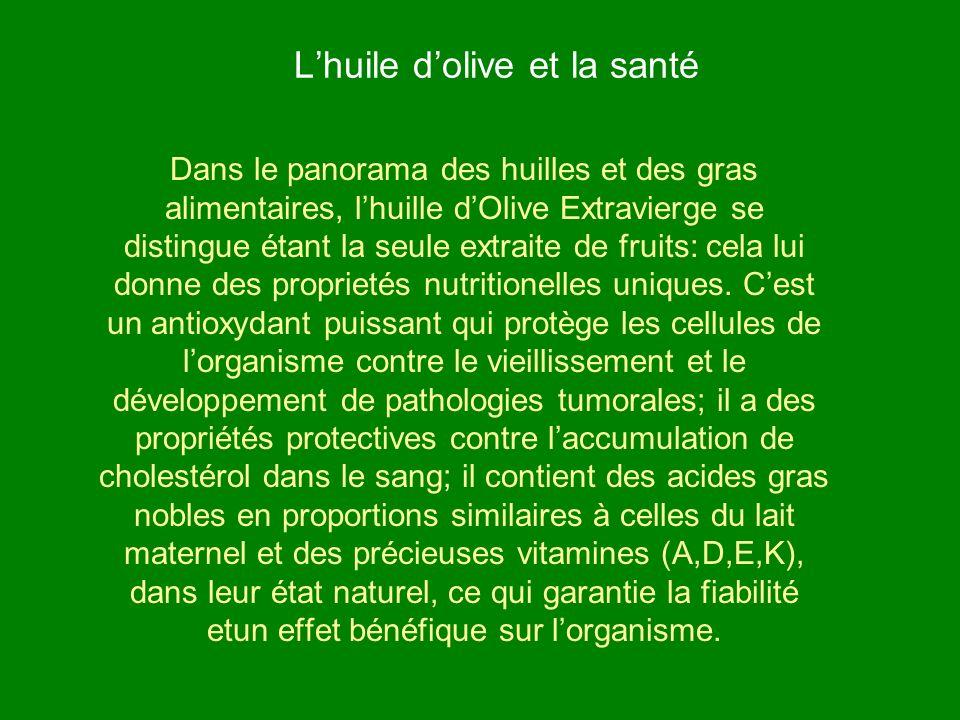 L'huile d'olive et la santé