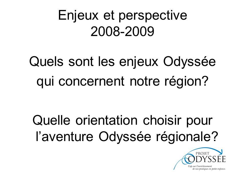 Enjeux et perspective 2008-2009