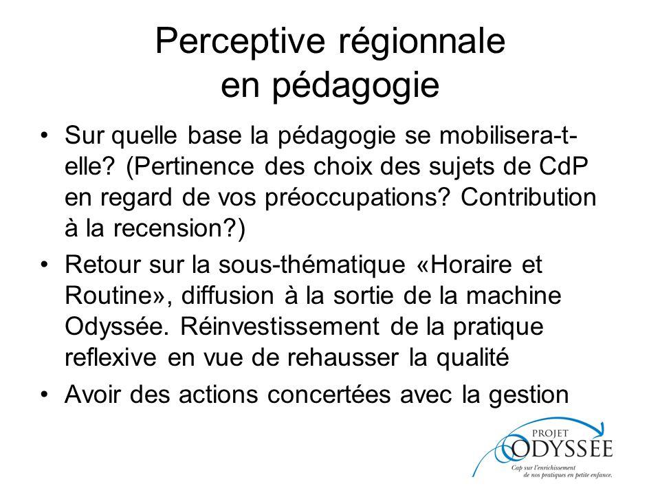 Perceptive régionnale en pédagogie