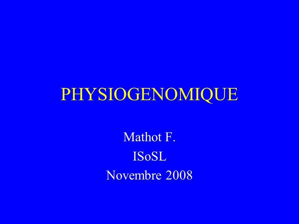 Mathot F. ISoSL Novembre 2008