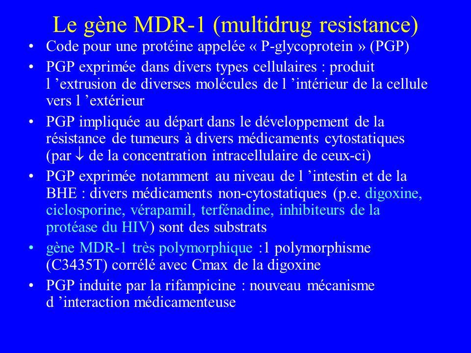 Le gène MDR-1 (multidrug resistance)