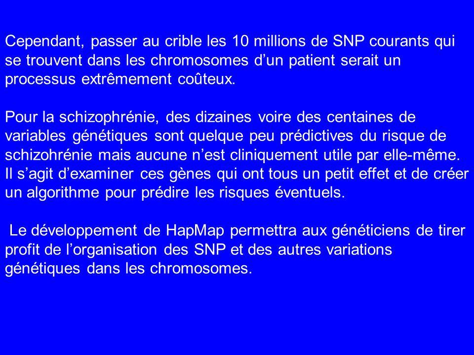 Cependant, passer au crible les 10 millions de SNP courants qui se trouvent dans les chromosomes d'un patient serait un processus extrêmement coûteux.