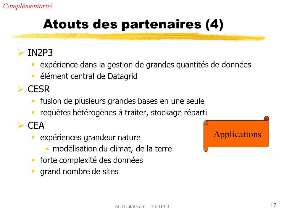 Atouts des partenaires (4)
