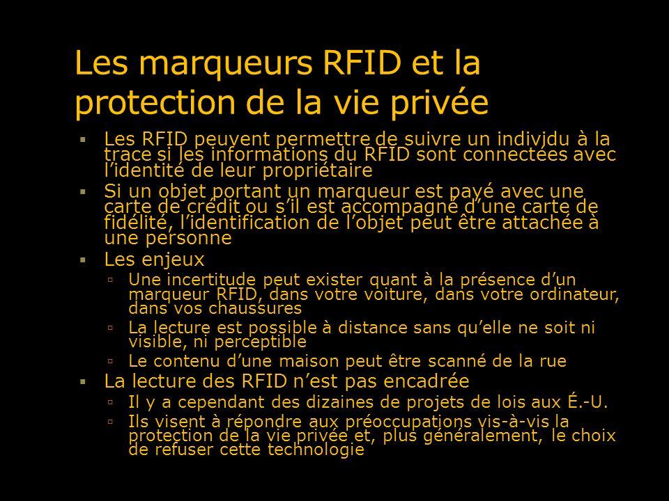 Les marqueurs RFID et la protection de la vie privée