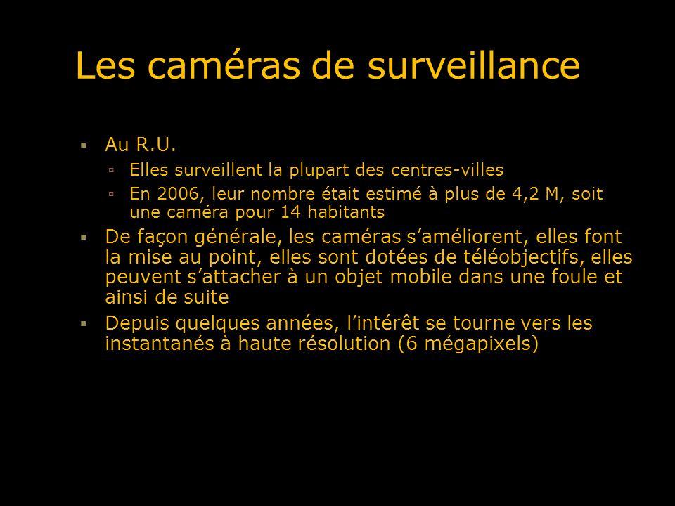 Les caméras de surveillance