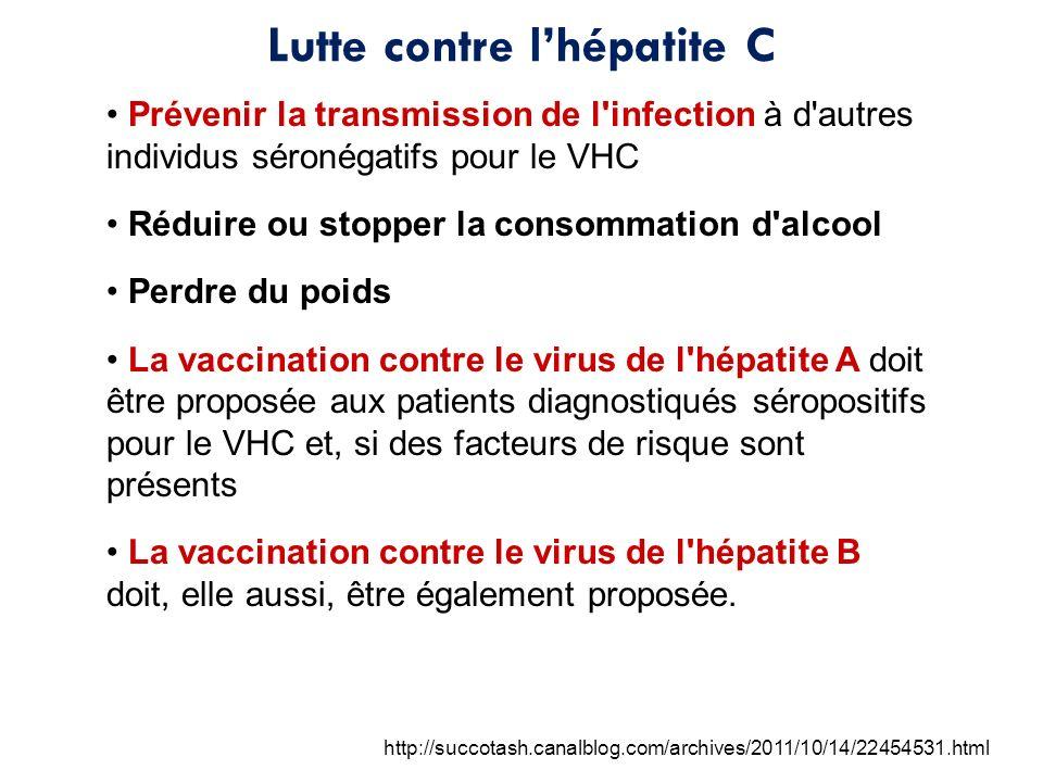 Lutte contre l'hépatite C