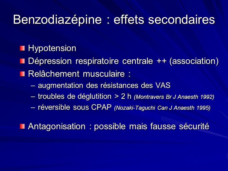 Benzodiazépine : effets secondaires