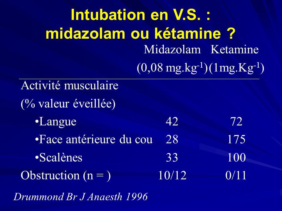 Intubation en V.S. : midazolam ou kétamine