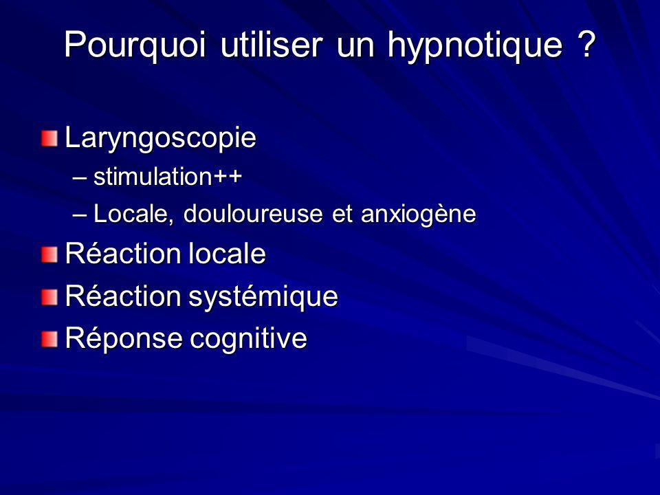 Pourquoi utiliser un hypnotique