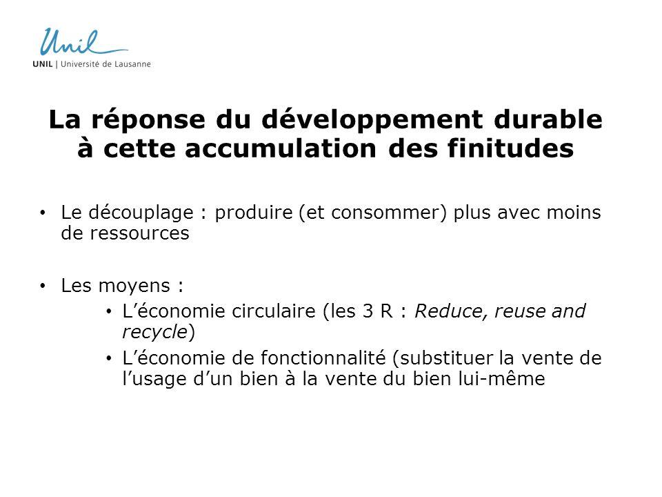La réponse du développement durable à cette accumulation des finitudes