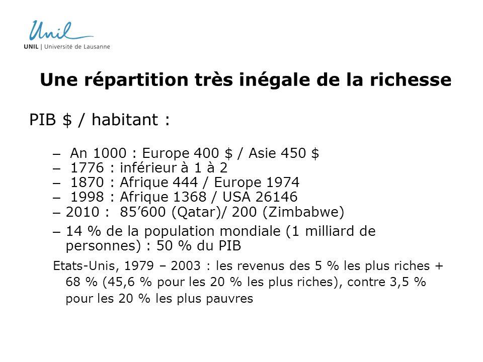 Une répartition très inégale de la richesse