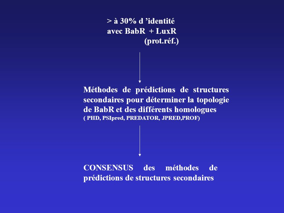 CONSENSUS des méthodes de prédictions de structures secondaires