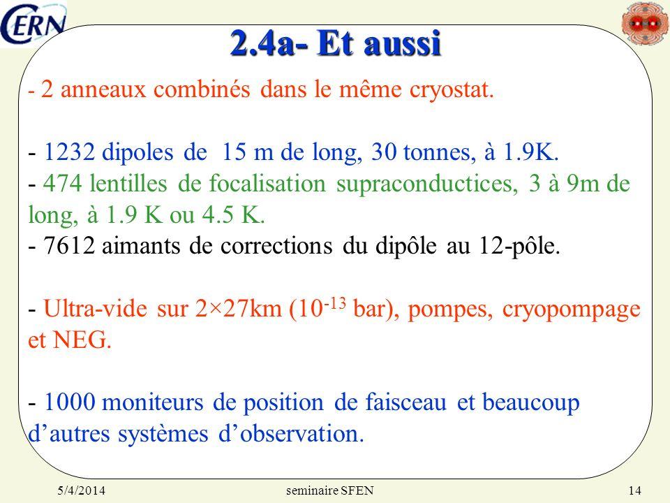 2.4a- Et aussi 1232 dipoles de 15 m de long, 30 tonnes, à 1.9K.